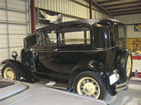 1931 Ford Model A Tudor Sedan in Black