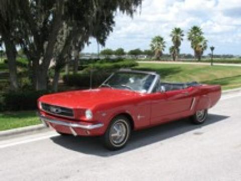 1965 Ford Mustang Convertible in Red