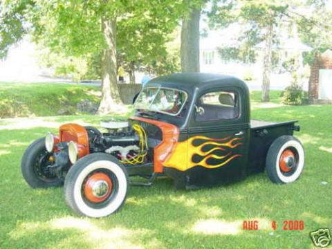 1940 Ford Pickup  in Black w/Flames