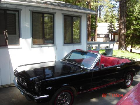 1965 Ford Mustang GT Convertible in Raven Black