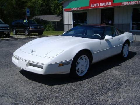 White 1988 Chevrolet Corvette Coupe with White/Black interior 1988 Chevrolet Corvette Coupe in White