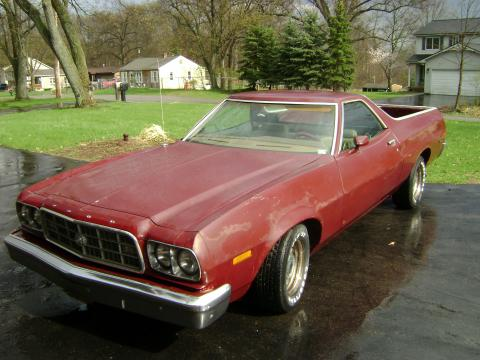 1973 Ford Ranchero GT in Burgundy
