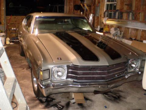 1972 Chevrolet Chevelle  in Silver/Black
