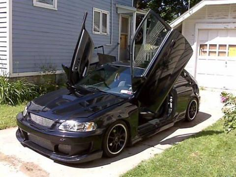 1998 Honda Civic DX Hatchback Custom in Flamenco Black Pearl