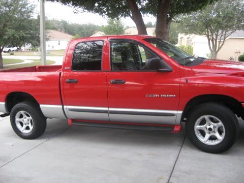 2002 Dodge Ram 1500 SLT Quad Cab 4x4 in Flame Red