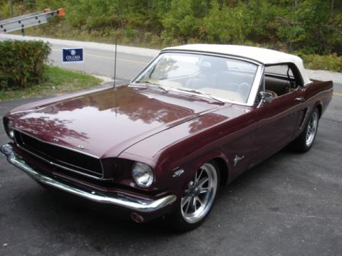 1965 Ford Mustang Convertible in Vintage Burgundy