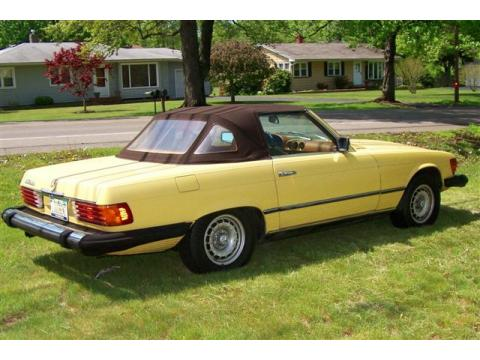 1977 Mercedes-Benz SL Class 450 SL roadster in Yellow