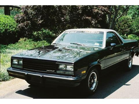 1984 Chevrolet El Camino Conquista in Mercedes-Benz Maybach Dark Metallic Blue