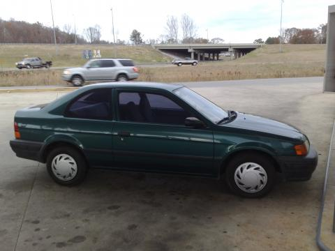 1996 Toyota Tercel Coupe in Dark Green