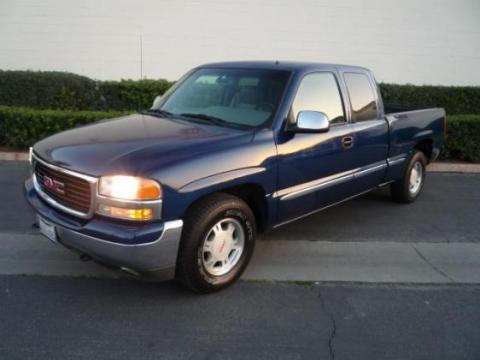 2003 GMC Sierra 1500 Extended Cab in Marine Blue Metallic
