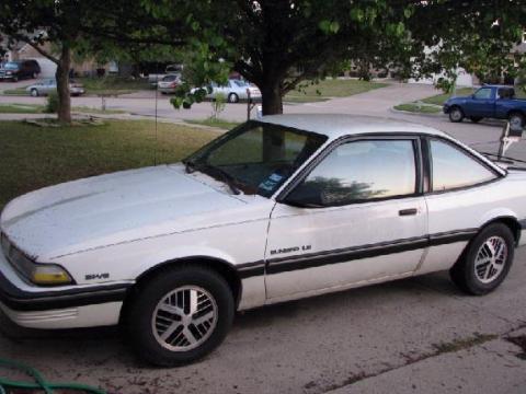 1991 Pontiac Sunbird LE Coupe in Arctic White