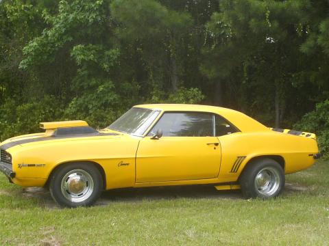 1969 Chevrolet Camaro Coupe in Yellow/Black Stripes