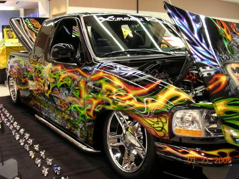 2000 Ford F150 Harley Davidson Extended Cab in Custom Airbrush