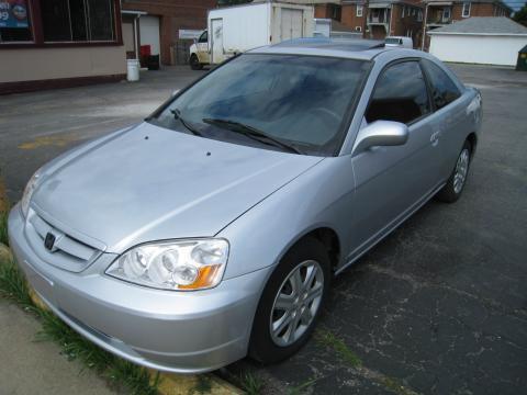 2003 Honda Civic EX Coupe in Satin Silver Metallic