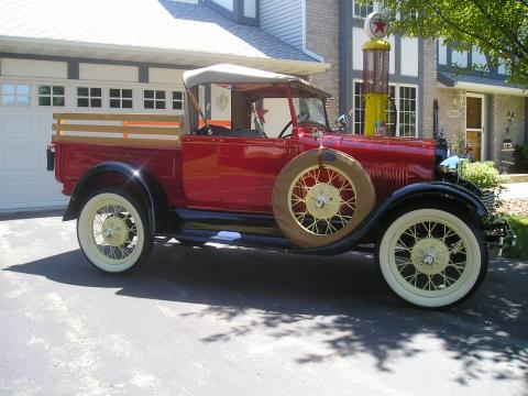 1929 Ford Model A Roadster Pick-Up Truck in Red
