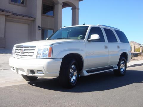 2004 Cadillac Escalade AWD in White Diamond