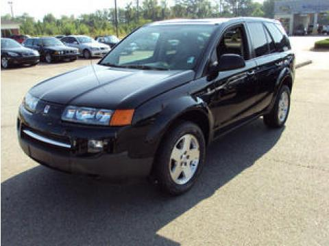 Black Onyx 2004 Saturn VUE V6 AWD with Gray interior 2004 Saturn VUE V6 AWD