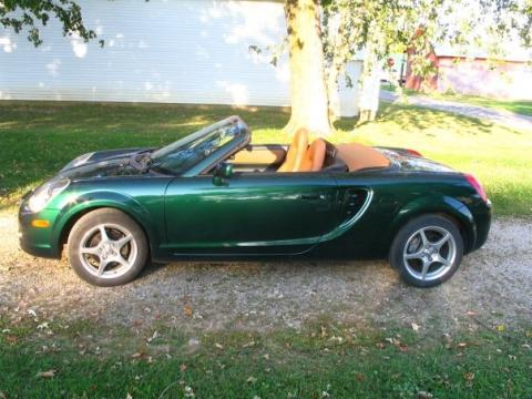 2003 Toyota MR2 Spyder Roadster in Electric Green Mica