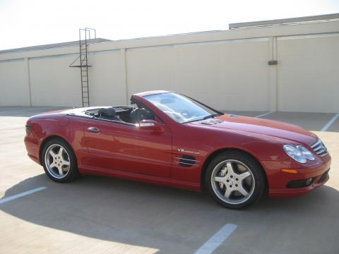 2006 Mercedes-Benz SL 55 AMG Roadster in Mars Red