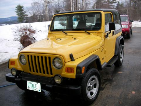 2001 Jeep Wrangler Sport 4x4 in Solar Yellow
