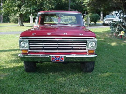 1970 Ford F-Series Truck Ranger 4x4 in Red