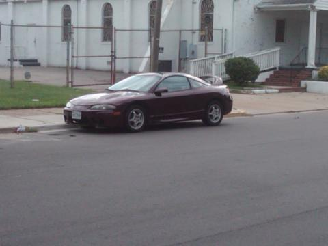 1996 Mitsubishi Eclipse GS-T Turbo Coupe in Burgundy