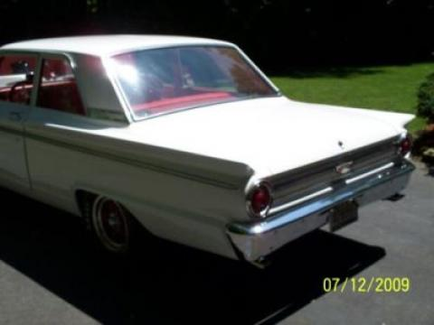 1963 Ford Fairlane 2 Door Sedan in White