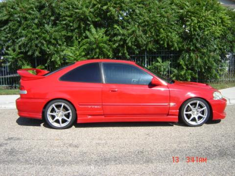 1999 Honda Civic Si Coupe in Roma Red