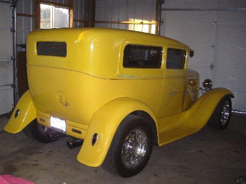 1930 Ford Model A Tudor Sedan in Yellow