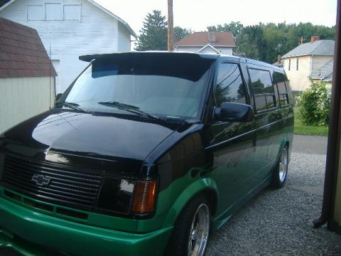 1993 Chevrolet Astro Custom Van in Neon Green/Black