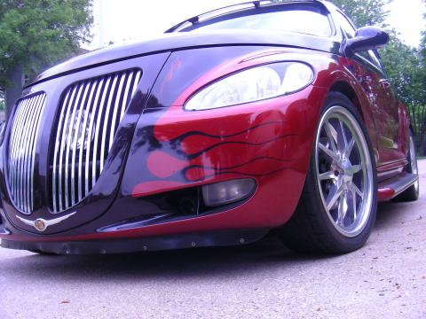2001 Chrysler PT Cruiser Limited in Inferno Red Pearl