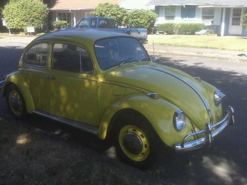 1968 Volkswagen Beetle Coupe in Yellow