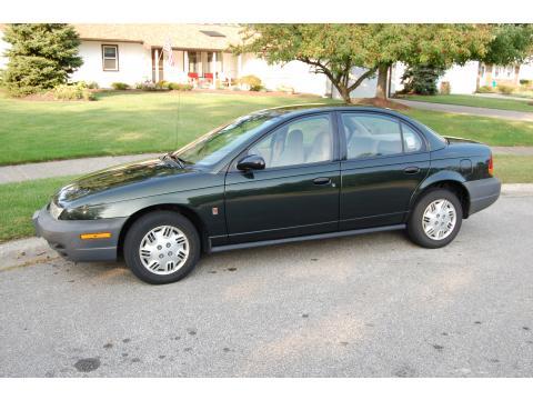 1999 Saturn S Series SL Sedan in Dark Green