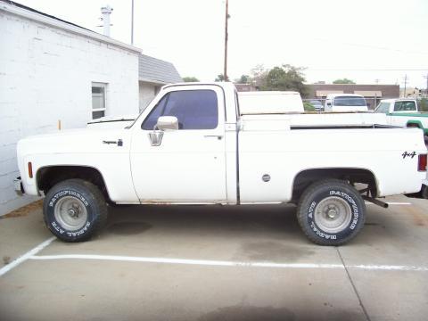 1978 Chevrolet C/K Truck K10 Cheyenne 4x4 in White