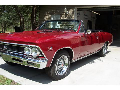 1966 Chevrolet Chevelle SS 427 Convertible in Burgundy