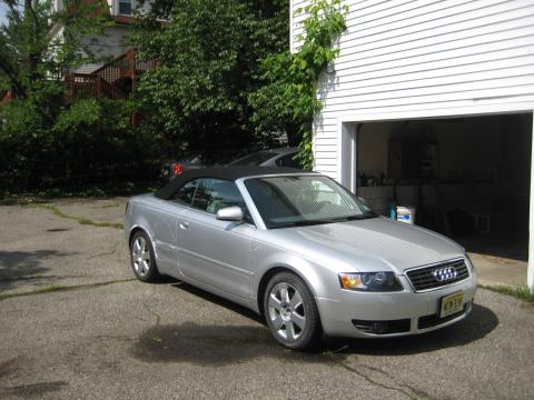 2003 Audi A4 1.8T Cabriolet in Light Silver Metallic