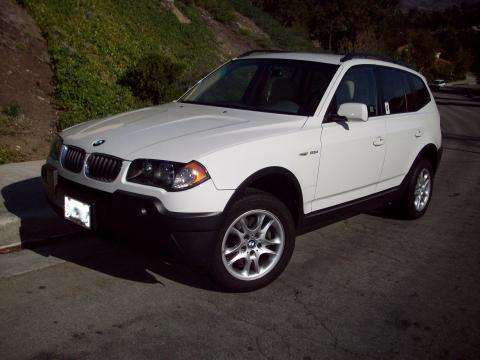 2005 BMW X3 2.5i in Alpine White