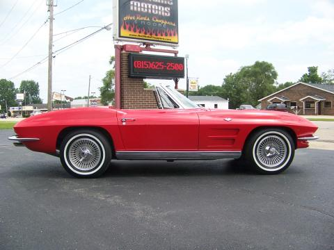 1963 Chevrolet Corvette Sting Ray Convertible in Riverside Red
