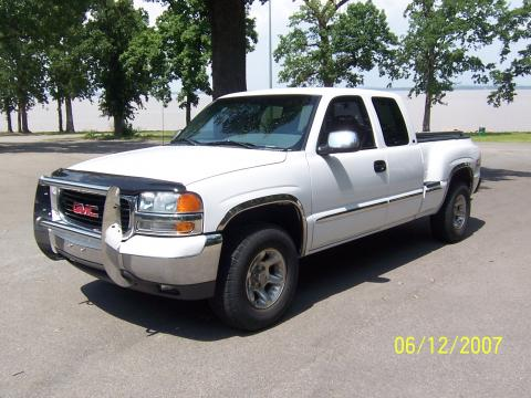 1999 GMC Sierra 1500 SLT Extended Cab Stepside in Summit White