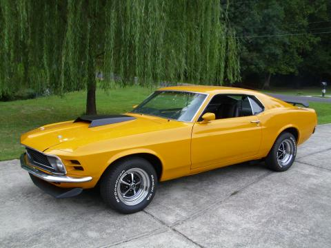 Grabber Orange 1970 Ford Mustang Fastback with Black interior 1970 Ford