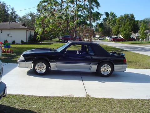 1989 Ford Mustang GT Convertible in Black and Silver