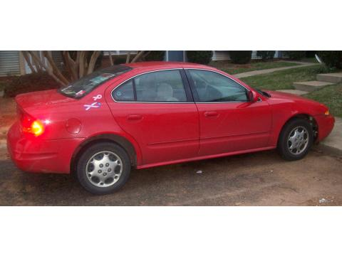 2001 Oldsmobile Alero Gls Sedan. Bright Red 2001 Oldsmobile