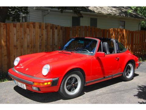 1988 Porsche 911 Targa in Guards Red