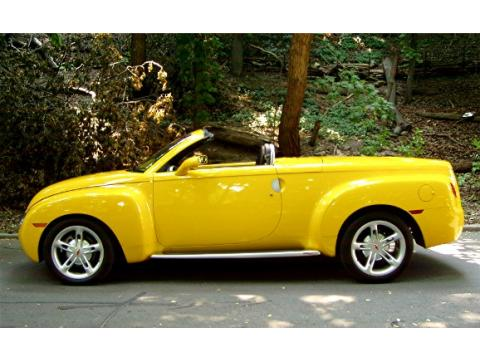Chevrolet Ssr 2003. Yellow 2003 Chevrolet SSR with