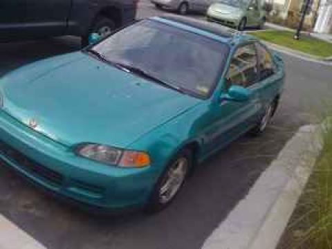 1994 Honda Civic Coupe in Aztec Green Metallic