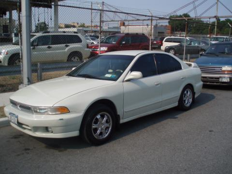 Northstar White 2001 Mitsubishi Galant ES with Gray interior 2001 Mitsubishi