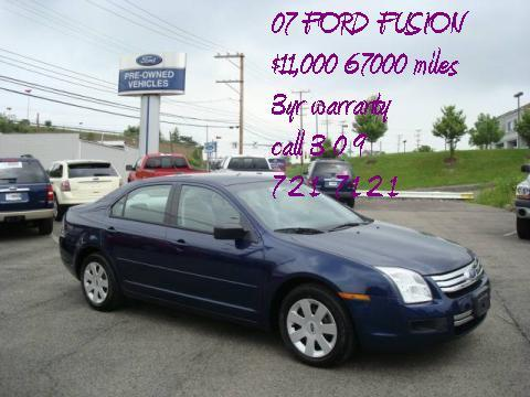 2007 Ford Fusion SE V6 in Dark Blue Pearl Metallic