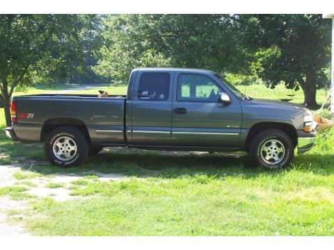 2000 Chevrolet Silverado 1500 Z71 Extended Cab in Charcoal Gray Metallic