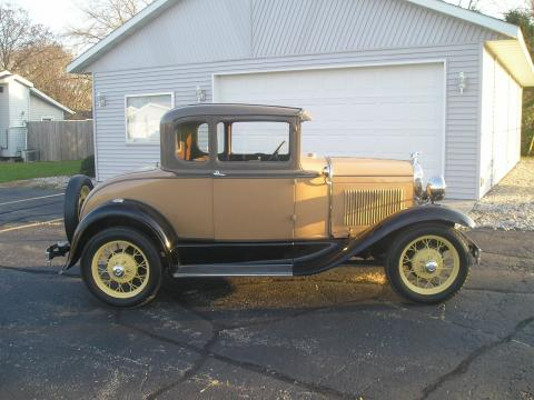 1930 Ford Model A Rumble Seat Coupe in Stock Model Color