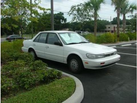 1992 Nissan Stanza XE in White